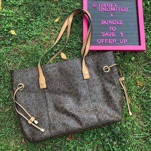 CALVIN KLEIN tote bag purse like new condition